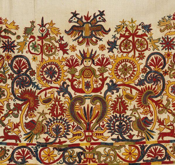 Λεπτομέρεια από φουστάνι στην Κρήτη του 17ου αι. από τη συλλογή του Νεοελληνικού Πολιτισμου του Μουσείου Μπενάκη.