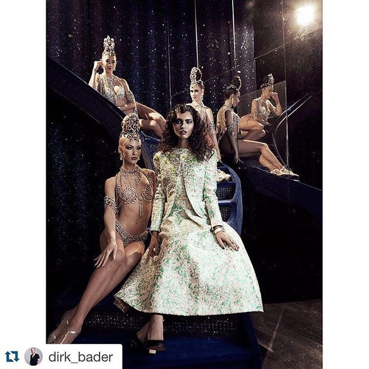 dirk_bader with@avengerphotographers.com ・・・ #HarpersBazaar #F/W #2015/2016 #couture story. #MoulinRouge #Paris. #Model #RasikaNavare #hair and #makeup  #MichaelSalmen #ElsaSchiaparelli #DavidMorrisJeweller #animacreatives  #fashion #photography #dirkbader