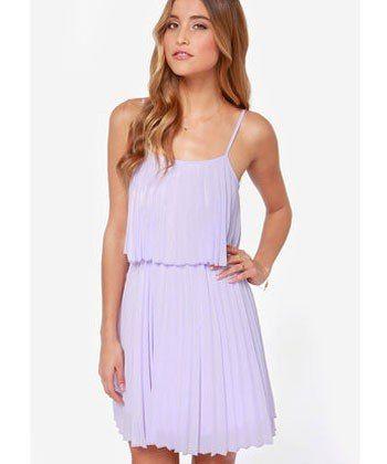 pleats on earth lavendar dress, lulus.com