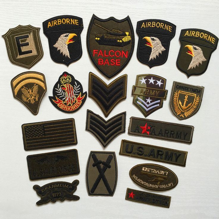 Cheap embroidered patch, Buy Quality patches for clothing directly from China patches patches Suppliers: Super Quality 9pcs Mix Military Motif Set Embroidered Patches for Clothing Sew Iron on Clothes Badge Patch Army Appliques
