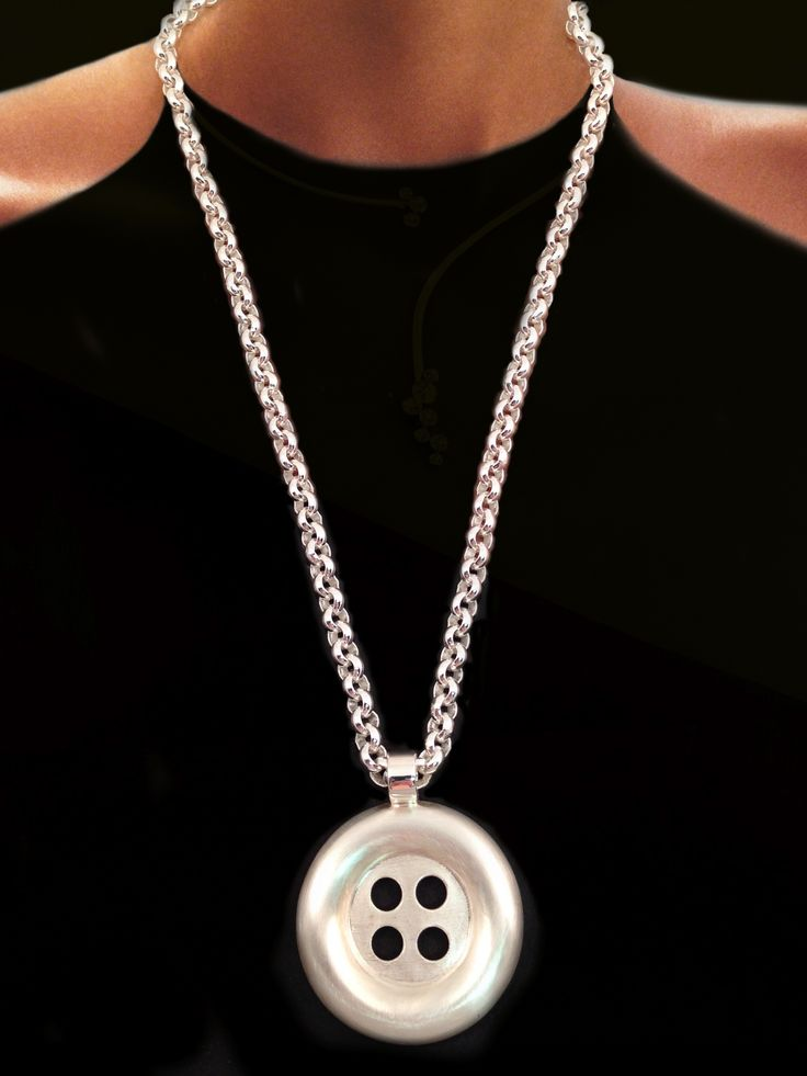 THE BEAUTY OF THE EVERYDAY IN STERLING SILVER. Button Pendant. Kristina Karter Jewellery Design.