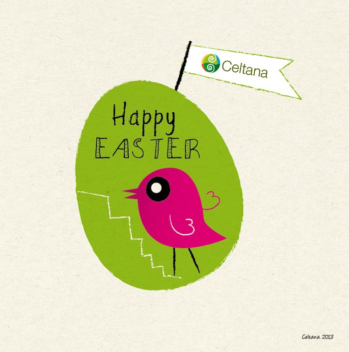 Happy Easter card for Celtana.ie