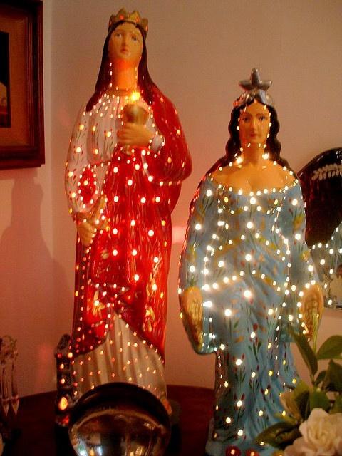 Santa Bárbara e Iemanjá