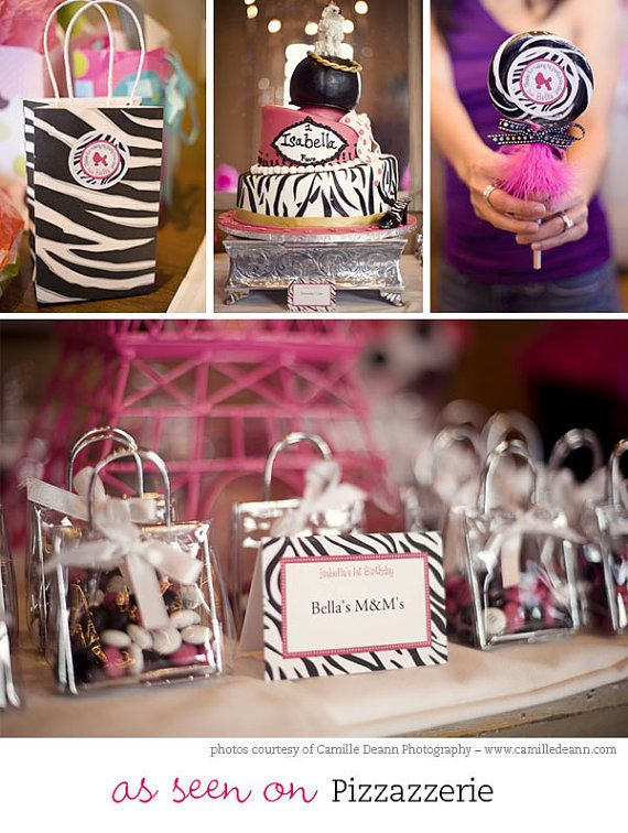 Zebra party  Custom DIY printable favor tags by chickabug on Etsy, $12.00