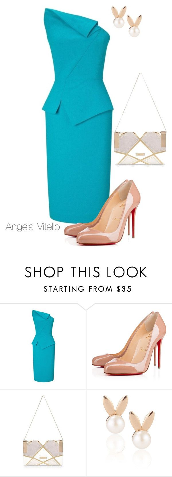 """""""Untitled #715"""" by angela-vitello on Polyvore featuring Christian Louboutin, River Island and Aamaya by priyanka"""