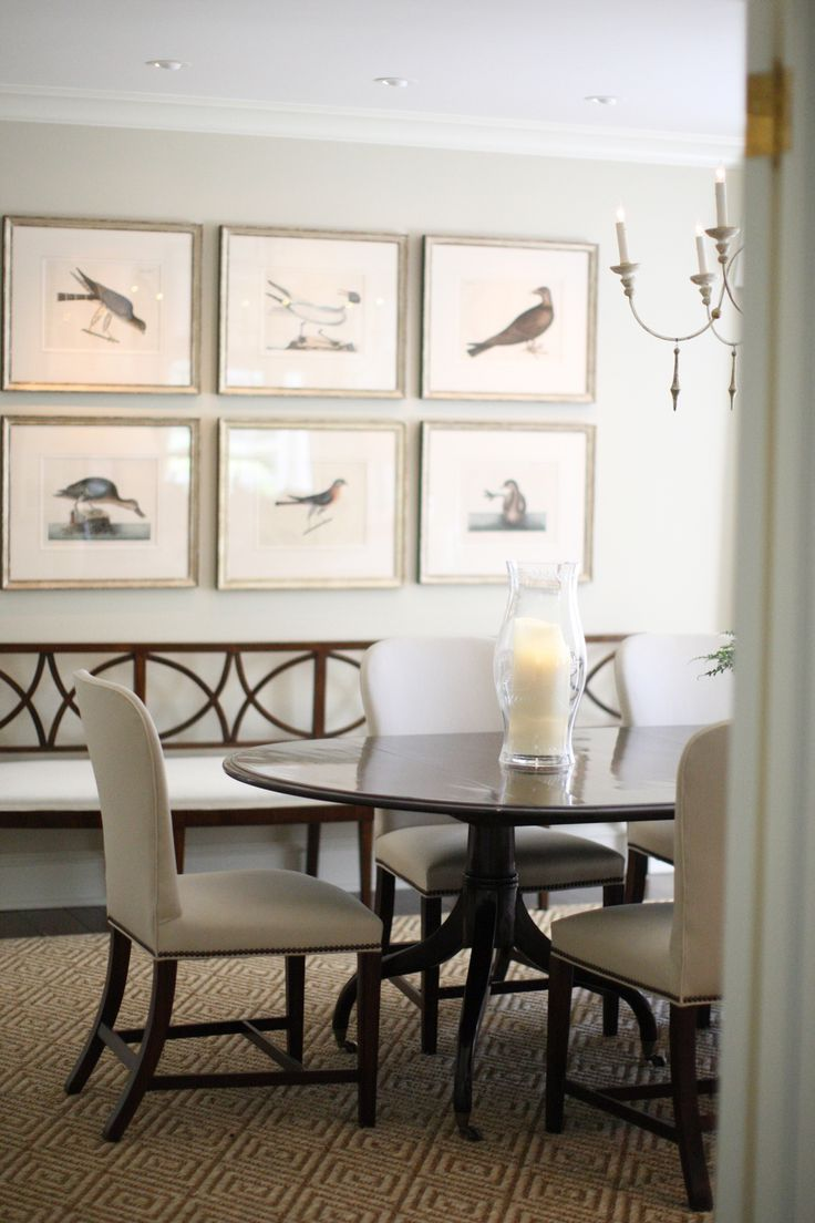 Baker dining chairs archives simplified bee - House Tour J Kling Design Chic Love The Bird Prints