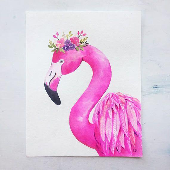 Flamingo Printable Flower Crown Flamingo Flamingo Print Etsy Flamingo Painting Crown Painting Flower Printable