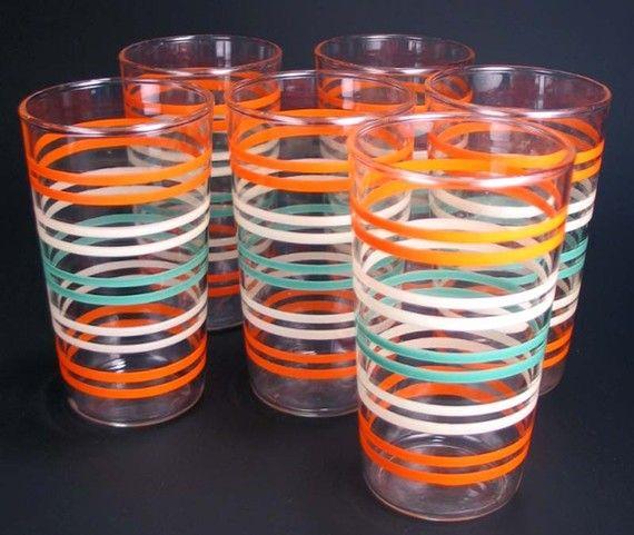 Striped vintage glasses at Etsy