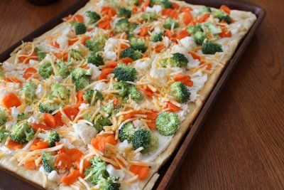 Cold veggie pizza: Pizza Recipe, Cream Cheese, Food, Appetizer, Veggies, Cold Veggie Pizza