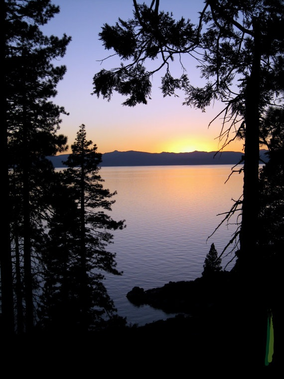 Lake Tahoe at Dusk 8x10 Matted Photo by erindonnellyellis on Etsy, $75.00