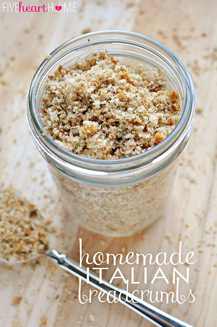 Homemade Italian Breadcrumbs ~ easily make for a fraction of the cost (and without the preservatives and additives) of storebought breadcrumbs | FiveHeartHome.com
