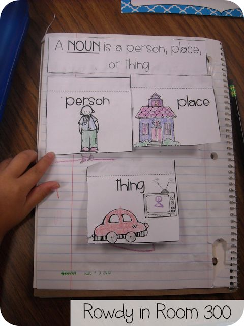 Interactive Noun freebie from Rowdy in Room 300