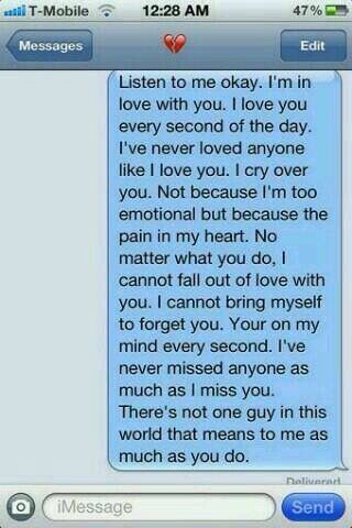 Message to send to your crush or a boyfriend.