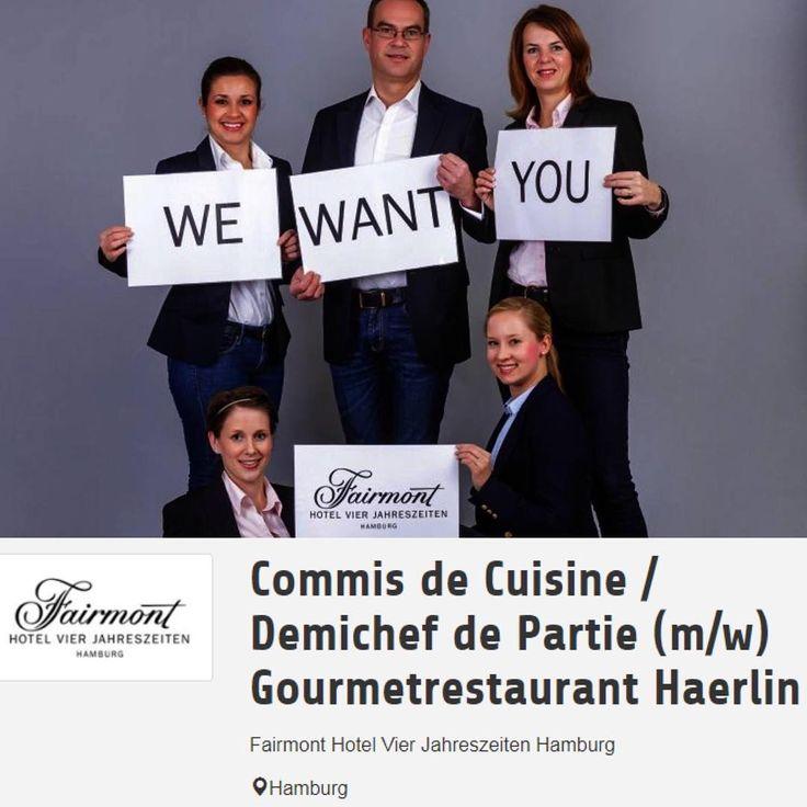 Arbeiten in einem der renommiertesten Grand Hotels der Welt, das können Sie im Fairmont Hotel Vier Jahreszeiten im Gourmetrestaurant Haerlin in Hamburg  #hamburg #restaurant #kulinarisch #hotel #job #jobangebot #jobs #karriere #essen #koch #gourmet #deutschland #starcookers #gastronomie