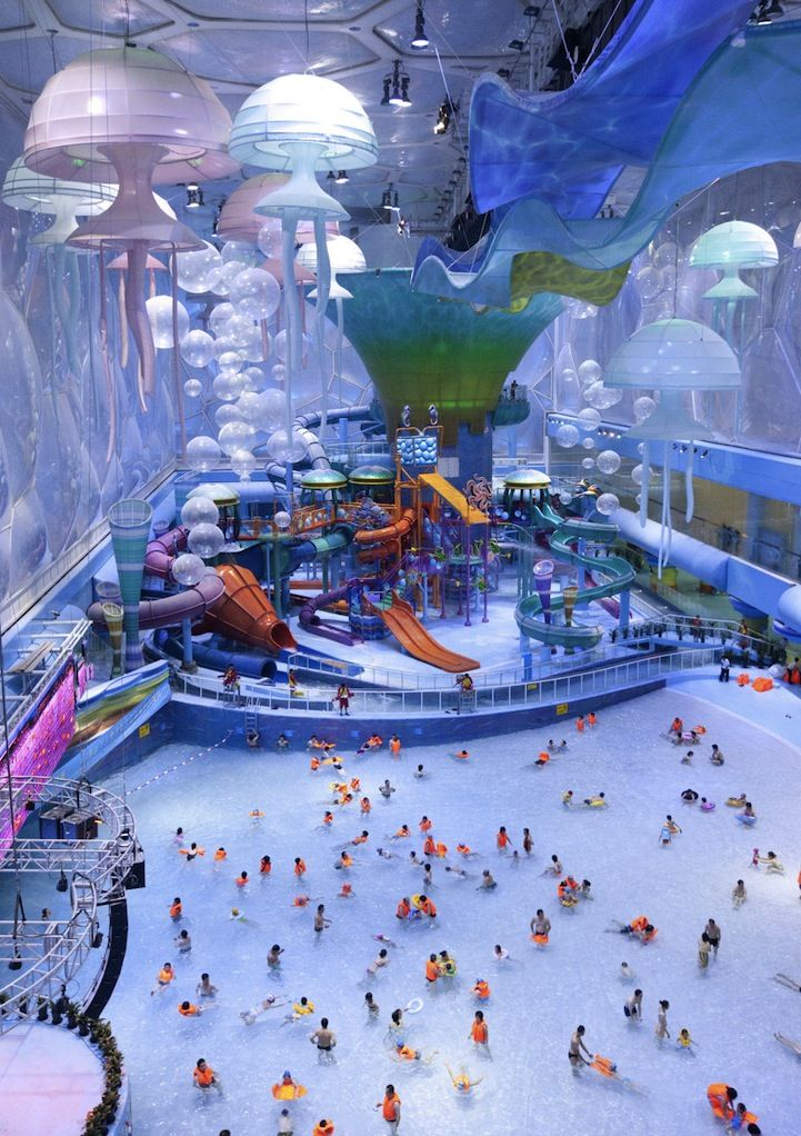 The Beijing Olympic Water Cube is now an awesome looking water park.  Maybe I'll get to see it when I go to Beijing later this year!