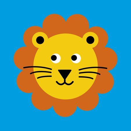 Lion face card