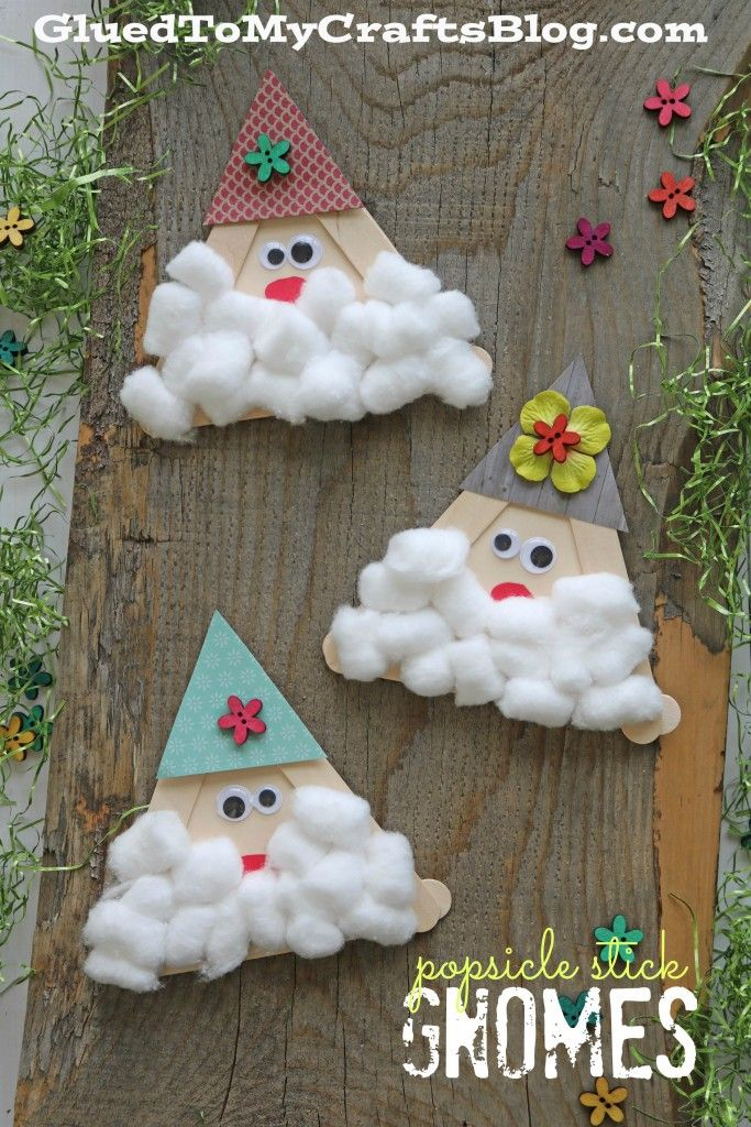 Popsicle Stick Gnomes - Kid Craft for Spring or St.Patty's Day!