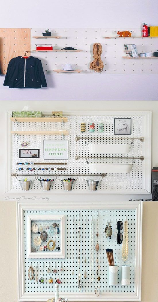 6 Great Ideas for Decorating with Pegboards and pins