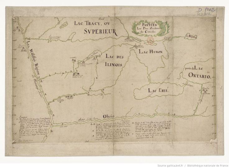 Parties les plus occidentales du Canada, [1688] / [signé Pierre Raffeix, jésuite]