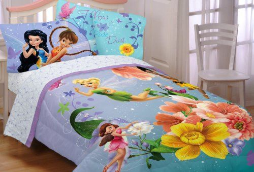 25 best kids comforters images on pinterest bedding sets for Tinkerbell bedroom furniture
