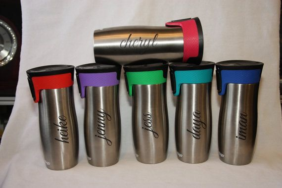 Thanks for stopping by MirageLaser. Personalize your very own Contigo color travel mug with permanent laser engraving that makes the perfect gift