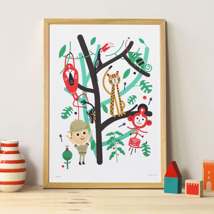 News Lovely Market - Poster chambre enfant, jungle - Poster chambre enfant...
