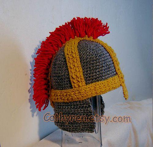 Ravelry: Helmet, Roman Soldier Helmet, Greek Helmet, King Leonidas Helmet pattern by Cathy Ren
