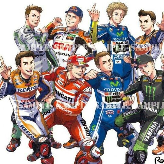 Motogp cartoon