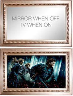 GK Framing | TV Mirror in One    Totally cool.  GK best in the framing biz.