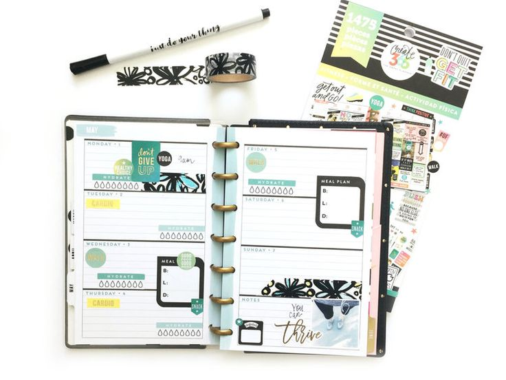 using a HORIZONTAL MINI Happy Planner®as a fitness planner by mambi Design Team member Jen Randall | me & my BIG ideas