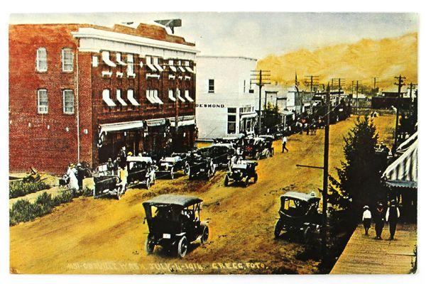 1914 Street Scene Postcard South End of Main Street Oroville, WA