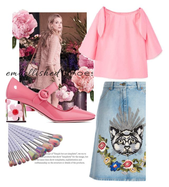 """Untitled #188"" by saracreafash on Polyvore featuring Gucci, Prada and MANGO"