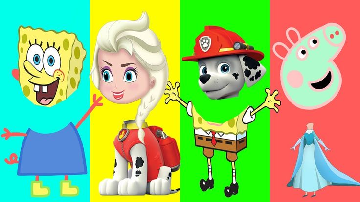 Wrong Heads Peppa Pig, Paw Patrol, Disney Princess Elsa, Wrong Heads Spo...