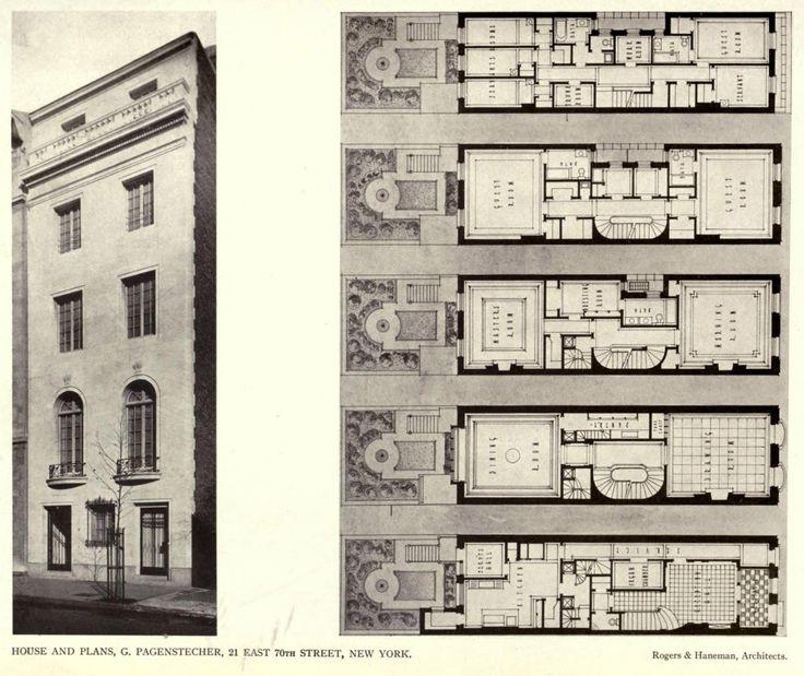 The pagenstecher residence new york city planimetrie for New york house plans