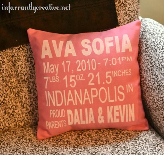 Cute! For the baby's room. Or as a gift. :)