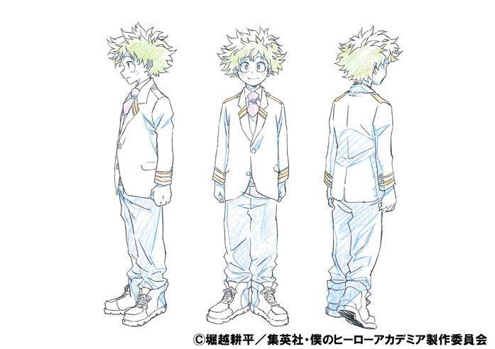 My Hero Academia TV Anime Posts Color Character Designs - News - Anime News Network:UK