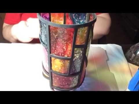 Lampara falso vitral - hecha de botella plastica reciclada  - Video # 25 - YouTube