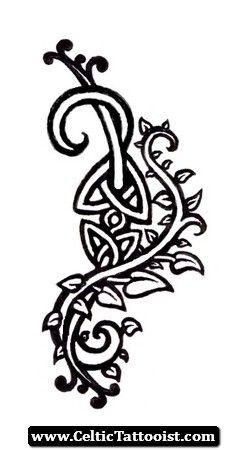 Celtic Vine Tattoo 08 - http://celtictattooist.com/celtic-vine-tattoo-08/