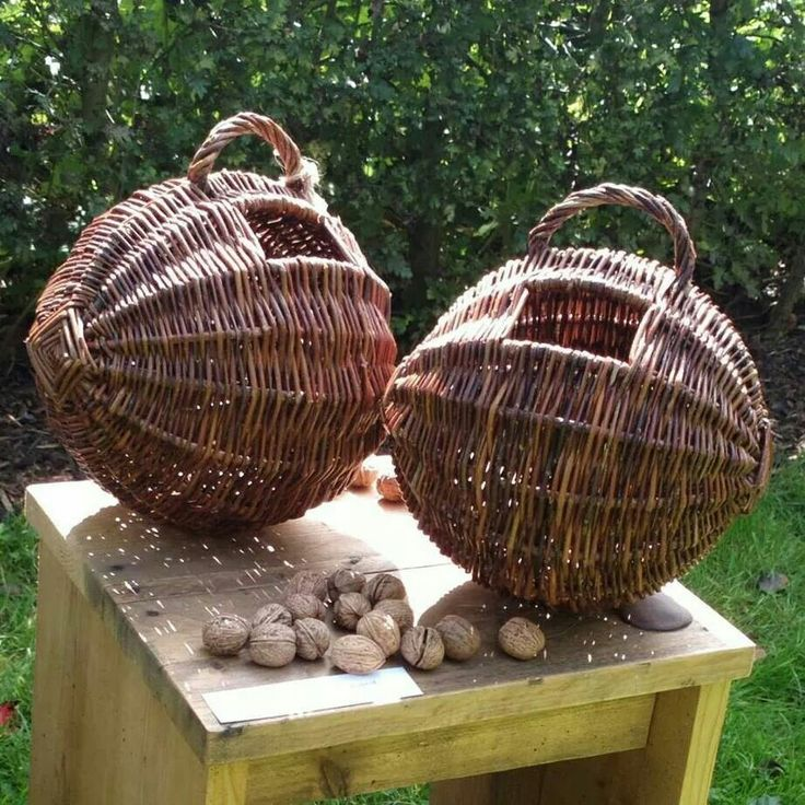 What dinky basket. Is it meant for collecting walnuts? That would be just perfect.