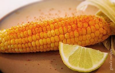 Corn on the Cob with Chile and Lime - easy recipe for tasty corn with a kick!