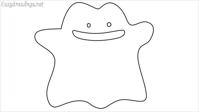 How To Draw A Ditto Step By Step Easydrawings Net Drawings Drawing Lessons Easy Drawings