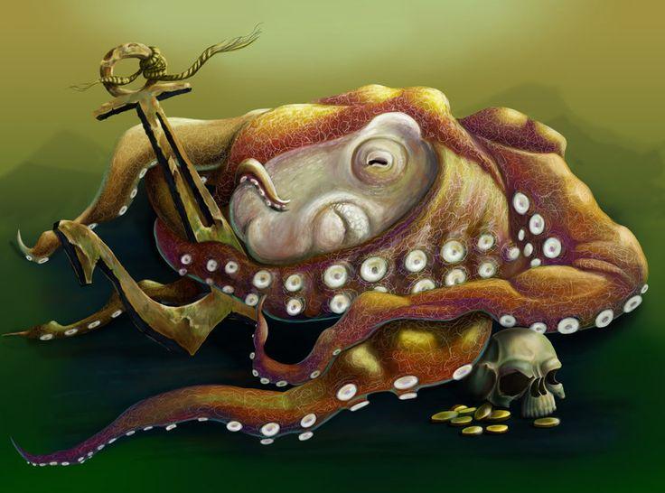 Octopus by chebot.deviantart.com on @DeviantArt