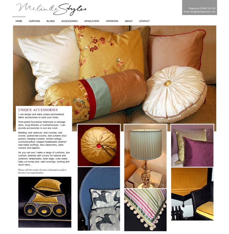 New Website for Melinda Styles - following on from the earlier flyers.