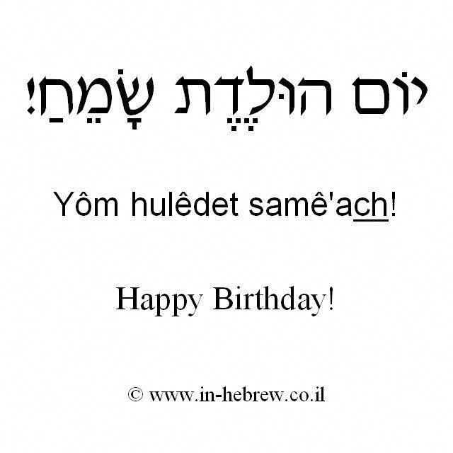 Еврейское поздравление с днем рождения мужчине на иврите