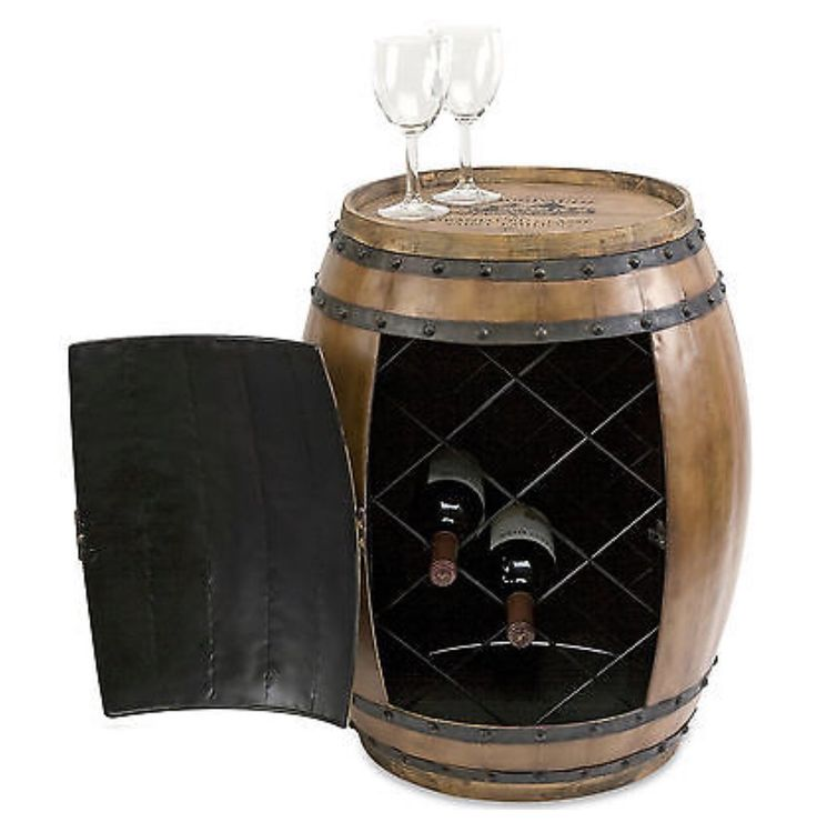 8 best homewood farmhouse images on pinterest galvanized metal not only does this rustic wine barrel add an interesting side table it opens to reveal an interior wine rack for storing favorite reserves solutioingenieria Choice Image