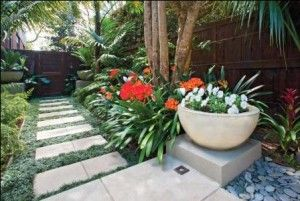 Balinese inspired, sub-tropical garden