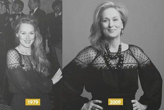 Meryl Streep, 30 years later.. HOODOO I TELL YOU.