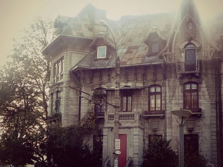 Bucharest. Arhitecture. Old house. Gothic. Light crosses the city.