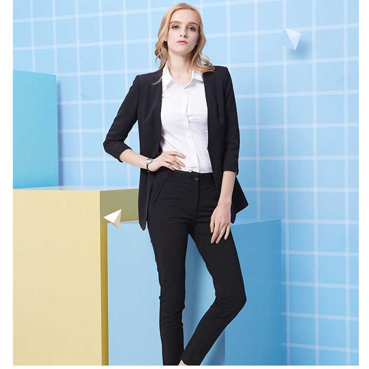 Hot Sales Women Business Suits Custom made Black Formal Office Suits Work Slim fit pants Suits Ladies Business suits