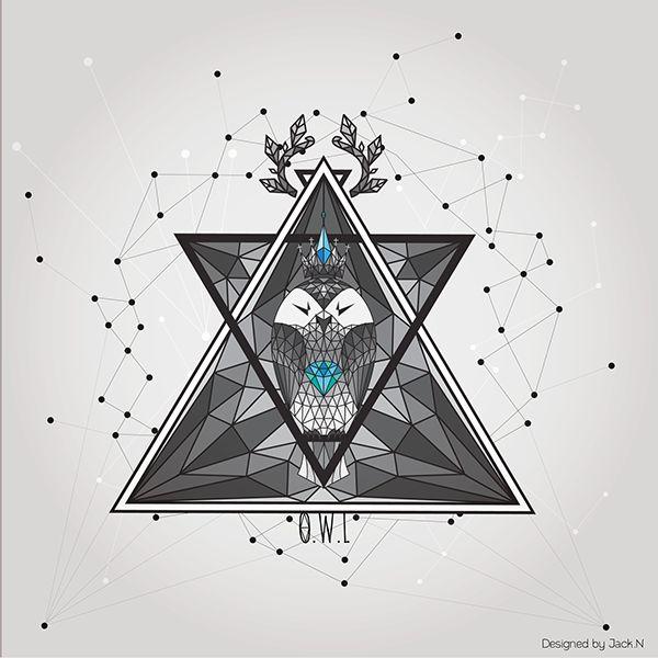 geometric owl - Google zoeken